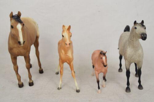 Lot of 4 Breyer Horses Arabian Foal Quarter Horse Yearling Paddock Pal