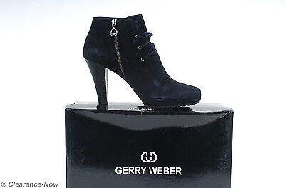 Gerry Weber Lilianna 41 / 10M European Heel Ankle Bootie Shoe Black New Box 5179