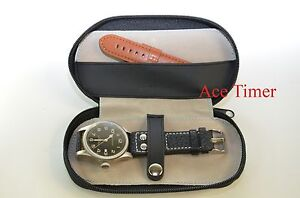 1-Watch-Black-Travel-Pouch-With-One-Strap-Storage-Case-Box