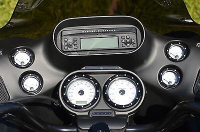 Black Speedometer Guage Bezel Cover Bezels Harley Street Electra Glide Flhx Flht
