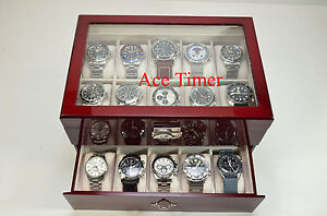 20-watch-Clear-Top-Rosewood-Storage-Display-Case-Box-Free-Polishing-Cloth