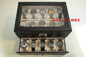 20-watches-Glass-Top-Faux-Leather-Display-Storage-Case-Box-Gift