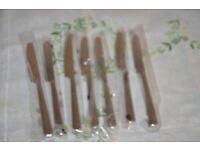 *RAR* Set 6 Dessertmesser BSF Anthea poliert Edelstahl 18//10 Fabrikneu in OVP