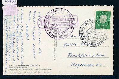 Post Glider (23933) Landpost Ra2 16 Obernhausen über Gersfeld (Rhöngeb) AK Glider 1960)