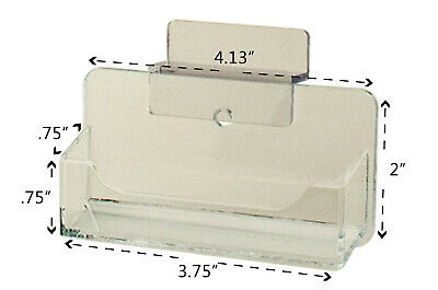 Business Card Holder Slatwall Clear Plastic Display Stand Desk Rack Qty 6