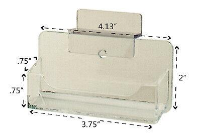 Slatwall Clear Plastic Business Card Holder Display Stand Desk Rack