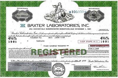 Baxter Travenol Laboratories Inc., 1977,  4 3/8% Debenture due 1991 (100.000 $)