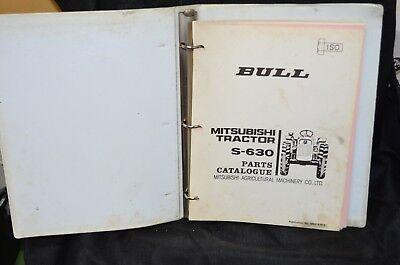 Satoh Mitsubishi Bull Technical Service Parts Catalog Manual S630 Tractor