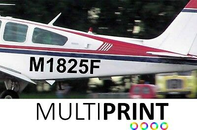 2 X Custom Airplane Aeroplane Number Personalised Decals Stickers Graphics AIR1