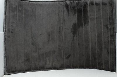 "Home Dynamix Memory Foam Bath Mat in Dark Gray, 34.5"" x 21"""