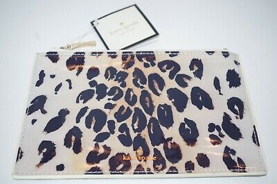 kate spade new york Leopard Print Pouch / Pencil Holder / Clutch - NEW with tags