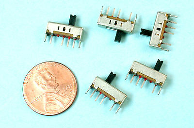 12pcs Miniature Slide Switches Tiny 3 Positions Pcb Mounting
