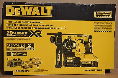 Dewalt Dch273p2 20v Max Xr Brushless 1 L-shape Sds Plus Rotary Hammer Kit
