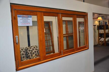 Bi Fold Windows, Stacker Servery Windows, Solid Cedar, 4 Panel Vineyard Hawkesbury Area Preview