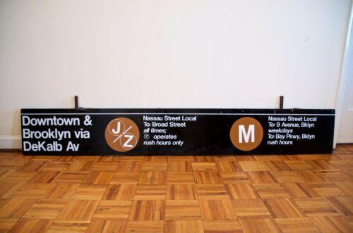 Authentic 1980s New York City Subway J M Z Jay-Z Sign Station Brooklyn NYC TA