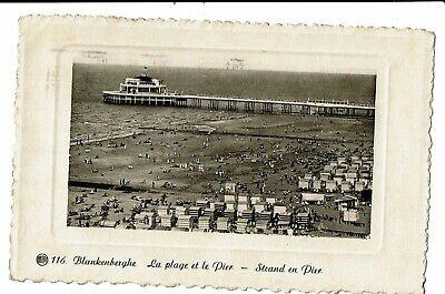 CPA - Carte postale -Belgique-Blankenberge-La Plage et le Pier-1937- VM1270