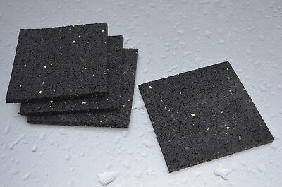 Waschmaschine Pads Antirutschmatte Antivibration Gummipads Trockner 10x10x06