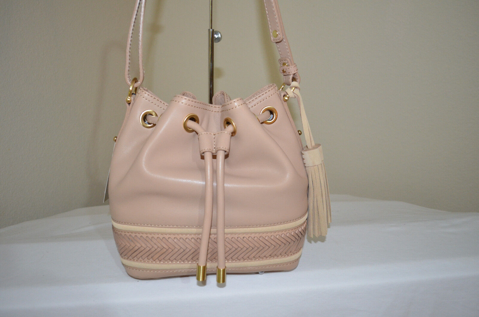 RARE NWT $375 Brahmin Isabelle Khaki Knoxville Bucket Should