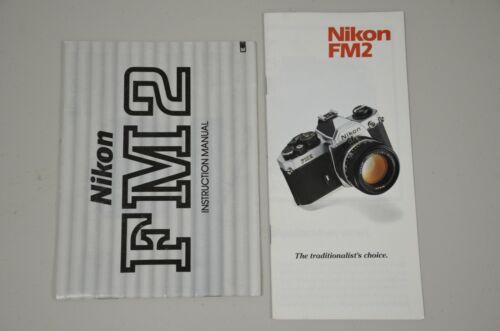 Nikon FM2 Instruction Manual and separate SALES BROCHURE