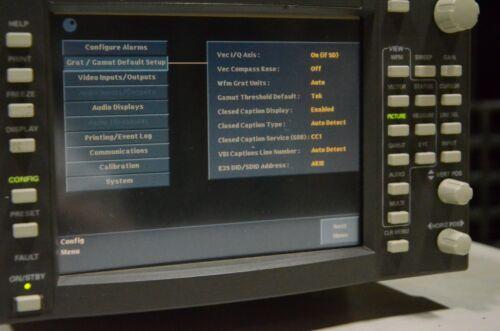 Tektronix WFM700 WFM-700 Waveform Monitor with WFM7M External VGA