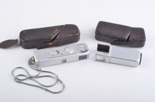 MINT- MINOX MODEL B, CASES, FLASHGUN AND CHAIN, TESTED, WORKS GREAT, VERY CLEAN