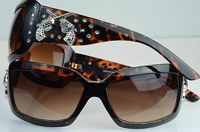 9206 gun Red neck Bling Retro Vintage  Womens Fashion spring cow (Redneck Sunglasses)