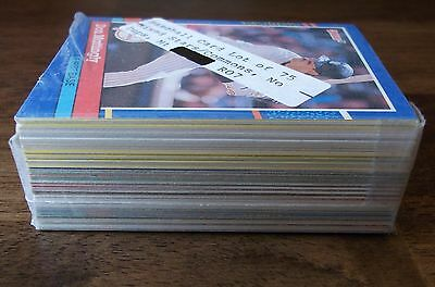 Baseball Cards Lot Of  75  Mixed Stars   Com    No Dups  Mt  Vintage Vtg Old Mlb
