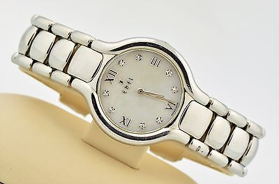 WOMEN'S EBEL BELUGA WHITE MOP DIAMOND DIAL STAINLESS STEEL SWISS QUARTZ E9157421