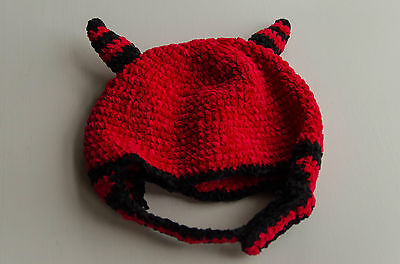 Cap San Diego Halloween Party (Red Devil Baby Hat Halloween Day Lee Design for San Diego Hat Company 0-6)