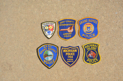 Police patches (Lot of 5) CA, FL GA Sheriffs Depts