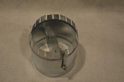 Damper 6-in Duct Hvac Manual Volume Damper With Sleeve Round Galvanized Inlin