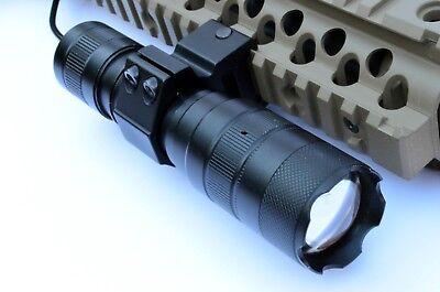 Tactical LED Gun Flashlight 800 Lumens Rifle or Shotgun Picatinny mount & wire