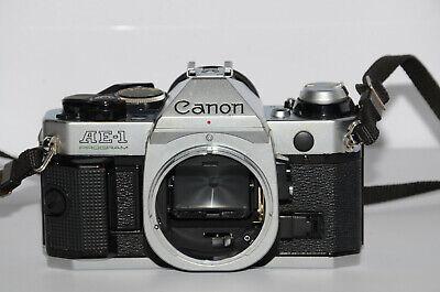Canon AE-1 Program 35mm Film FD Lens Mount SLR Camera Body - Dirt in View Finder