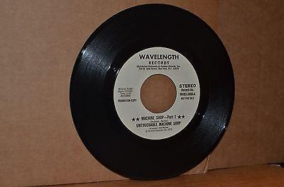 UNTOUCHABLE MACHINE SHOP: MACHINE SHOP PARTS 1 & 2; WAVELENGTH VG++ FUNK 45 RPM