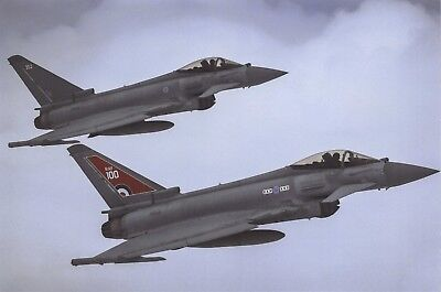 Postcard Typhoon FGR4 Aircraft 29 Squadron RAF Coningsby in RAF 100 Colours Z31