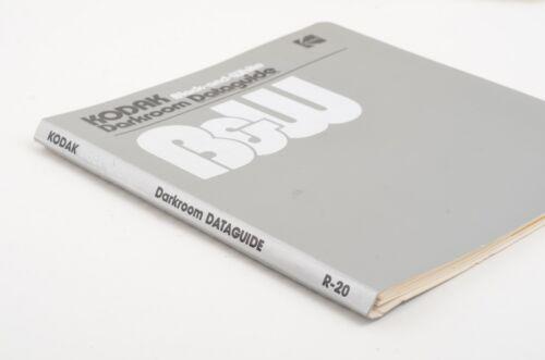 KODAK BLACK & WHITE DARKROOM DATAGUIDE R-20 1980 - VERY CLEAN, COMPLETE
