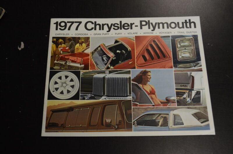 1977 Chrysler-Plymouth Sales Literature Book Ad Dealer Catalog