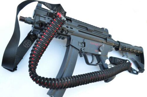 """60"""" Tactical 550 Paracord Gun Rifle Bow Shotgun Sling 1 or 2 Point BLACK WIDOW"""