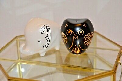 Kate Spade Elephant and Owl Salt and Pepper Shakers