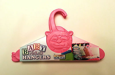 Baby Clothes Hangers Pink Animal Shower Gift Vintage Toddler Nursery Closet (Animal Hangers)