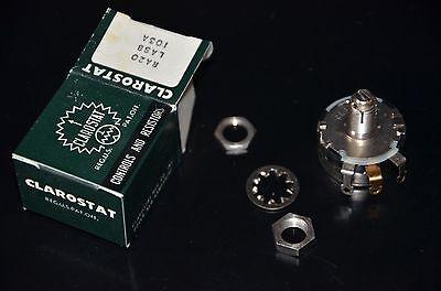 Clarostat Nos Vintage Potentiometer 10k Ohm Ra20lasb103a 625-8236