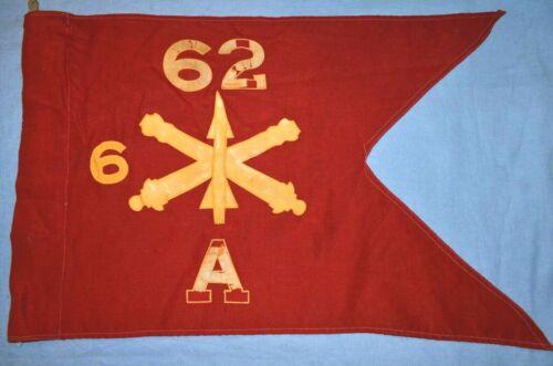 62nd Air Defense Artillery, 6th Bn. Bty. A Guidon, Circa 1950