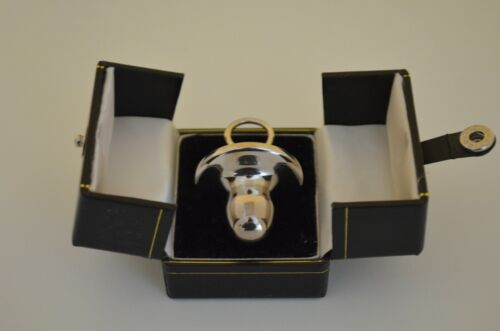 Carrs Solid Sterling Silver Keepsake Holder Shaped Like a Baby's Pacifier