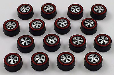 16 Brightvision Redline Wheels – 16 Medium US Dull Chrome Bearing Style Wheels, used for sale  Shipping to India