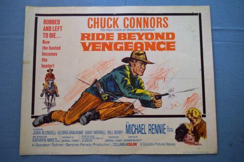"Vintage Movie Poster,  ""Ride Beyond Vengeance"" (1965)"