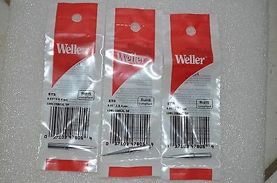 3 X Original Weller Ets 164 Long Conical Soldering Iron Tip Wes51 Pes51