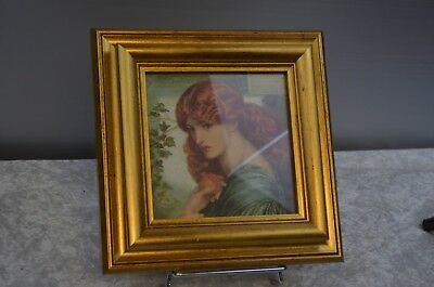 ANTIQUE FRAME WOOD GOLDEN PHOTO LITHOGRAPHY ELEGANT GABRIELE ROSSETTI