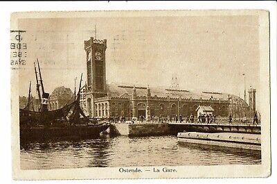 CPA-Carte postale-Belgique- Oostende - La Gare -1925   VM745