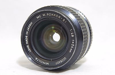 Minolta MC W.Rokkor-SI 24mm F/2.8 MF Lens SN2026307 for SR Mount from Japan