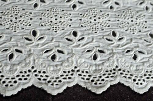 Vintage WIDE Embroidered EYELET YARDAGE for Skirt or Petticoat VV161